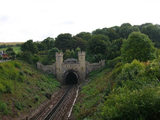 Clayton train tunnel where the apparitions of injured passengers and a train have been seen.