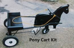 Amish made peddle pony cart