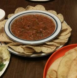 Chips and Naturally Hot Tortilla Sauce
