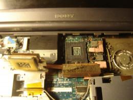Dust inside the laptop.
