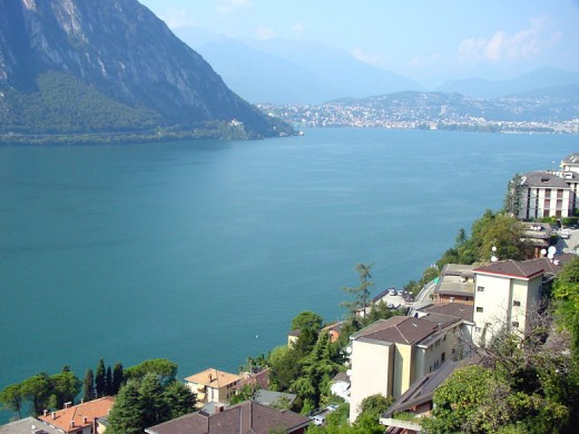The views from Campione across Lake Lugano are spectacular