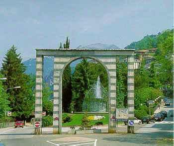 Campione's Arch celebrates its unique Italian exclave status.