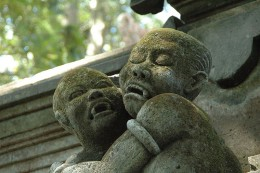 Statue of Vampire Children in Indonesia