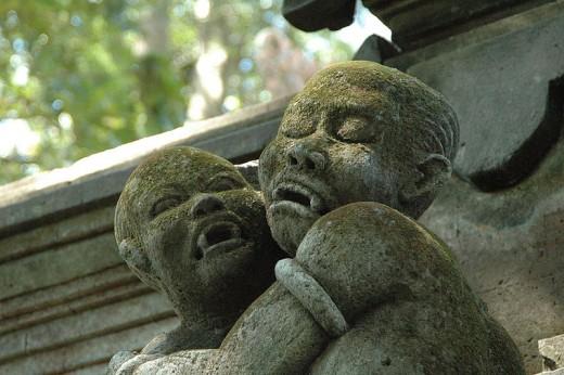 Statue of Vampire Children in Indonesia