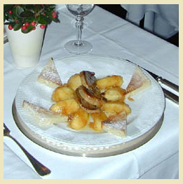 Fois Gras Scaloppine is one of Chef Fournier's finest creations