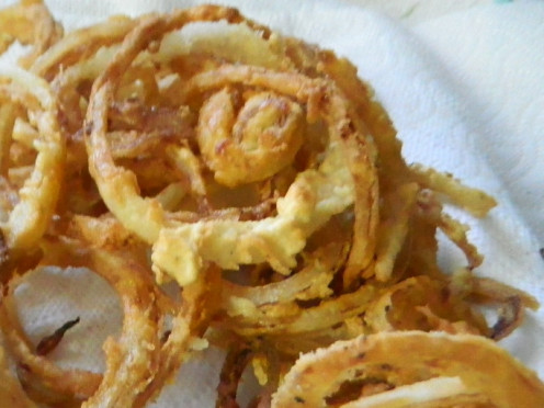 Make your very own crisp, delicious onions for a snack for a topping on your favorite burger or casseroe.
