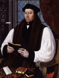 Thomas Cranmer Is Burned at the Stake by Mary I
