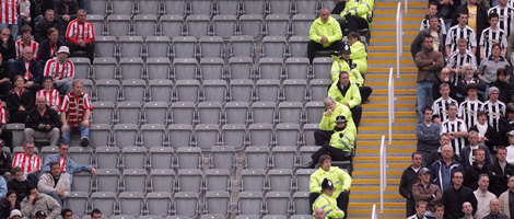 A great divide between fans at St. James' Park