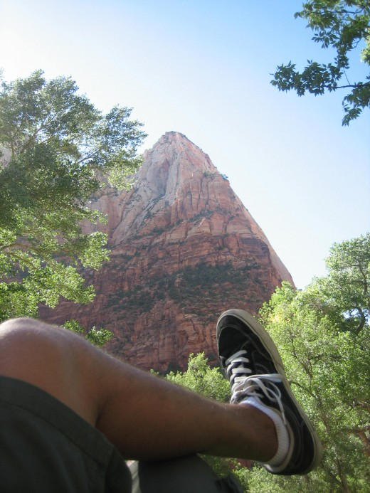 Photo taken near entrance of Zion National Park in Utah back in 2008.