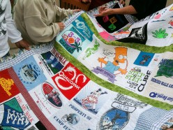 Kids can opt to have some of their favorite shirts from high school made into a t-shirt quilt to take to college.