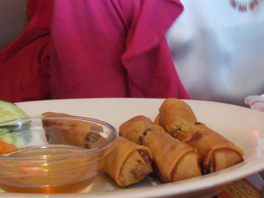 The Vietnamese Spring Rolls was our first appetizer. They were absolutely scrumptous.
