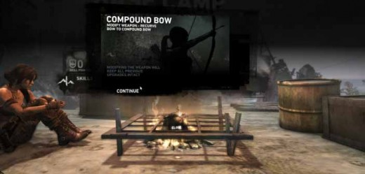 Tomb Raider get the compound bow and use the napalm arrows after a pirate's life quest