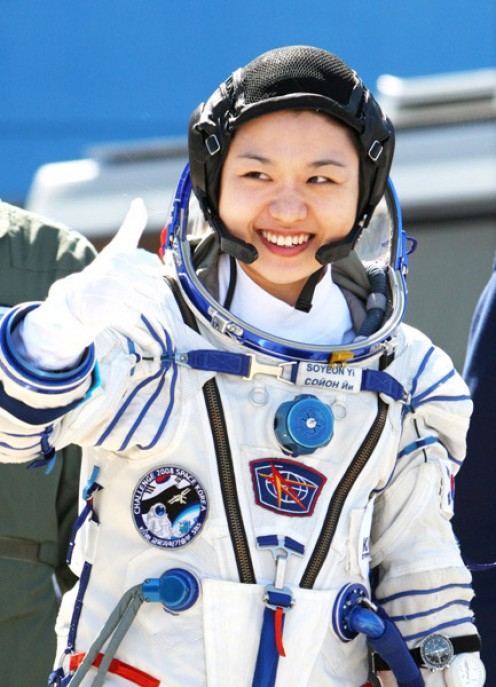 Dr. So-yeon Yi on launch day, April 8, 2008.