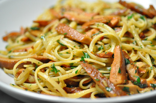 Linguine with Pine Mushrooms - an autumn treat. Image: © Siu Ling Hui