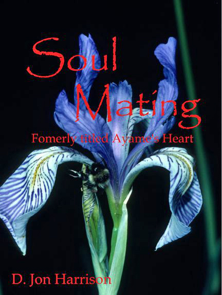 The book cover for Soul Mating shows an iris, which represents the English translation of the author's teacher's name, Ayame.