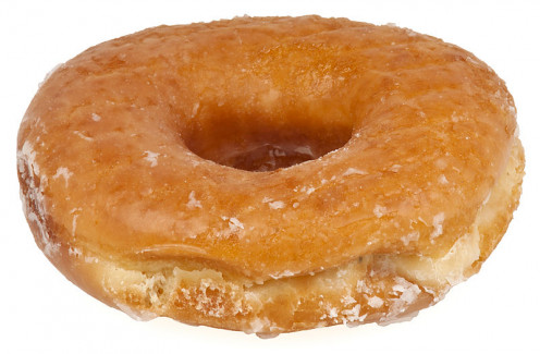 The classic American ring-shaped doughnut.