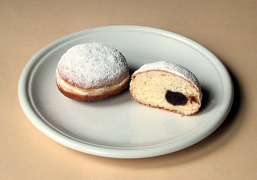The German berliner doughnut.
