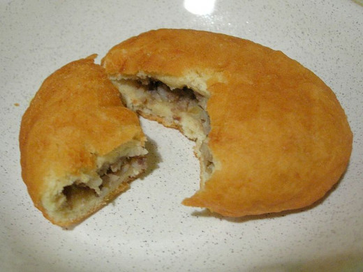 A Finnish meat filled doughnut.