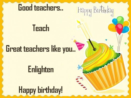 For Teacher Messages And Poems Wish Happy Birthday