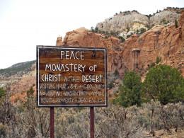 Sign for Monastery of Christ in the Desert