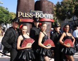 The premiere of the movie Puss in Boots