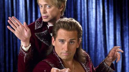 Steve Carrell (front) and Steve Buscemi star in the magical comedy The Incredible Burt Wonderstone