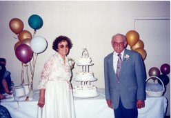 It took fifty years, but my grandparents finally got their wedding cake.