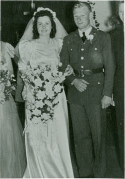 Mr and Mrs Nelson Price on their wedding day in 1942.
