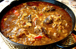Easy Spanish Gazpachos Recipes - Meat Stew Served on Unleavened Bread
