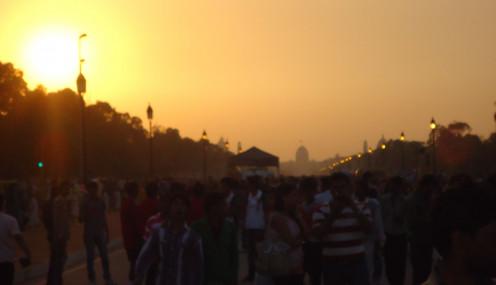 Delhi al anochecer