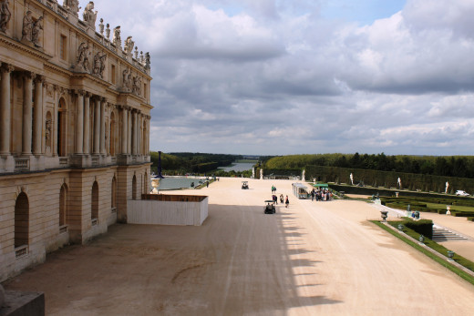 View of the garden from the Palace of Versailles, Paris