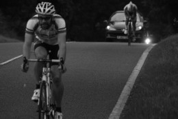 The benefits of cycling are not black and white and vary between exercisers. Pictures a VC Bread And Bitter Rider during a time-trial event
