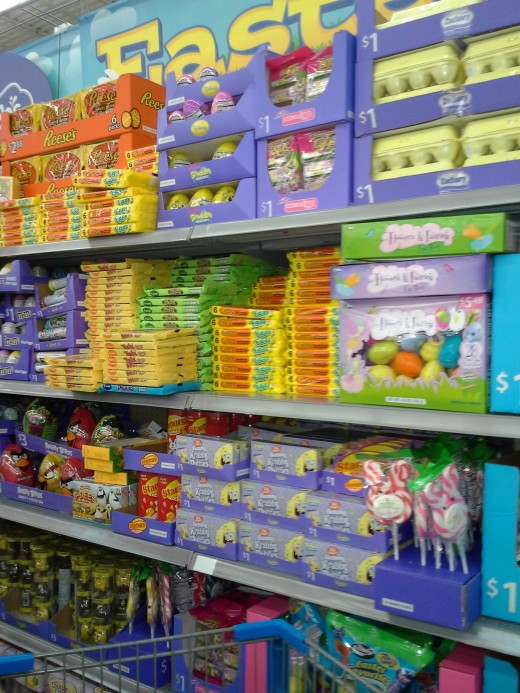 Easter Candy - fully stocked shelves