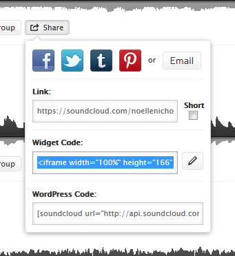Embedding options on Sound Cloud