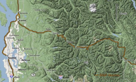 BNSF Map Stevens Pass