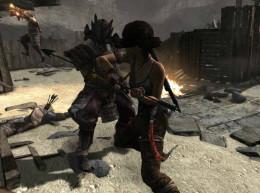 Tomb Raider Defeat Stormguard Samurai Warriors in Going Back In Quest