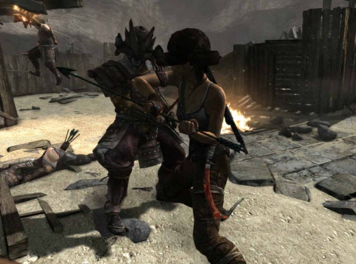 Tomb Raider Defeat Stormguard Samurai Warriors in Going Back In Quest