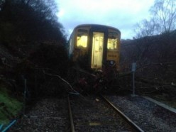 Train crash in Cardiff
