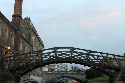 The mathematical bridge, Cambridge, UK.