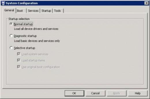 System Configuration Utility (Vista)