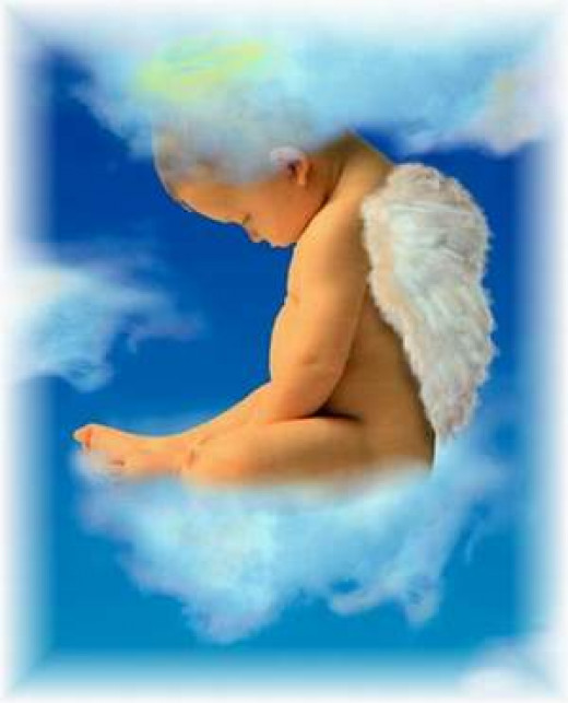It's not hard to make the leap from baby to angel.