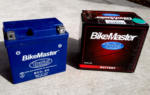 Bikemaster Trugel MG5L-BS unboxed. Not pictured are the included terminal screw attachments.