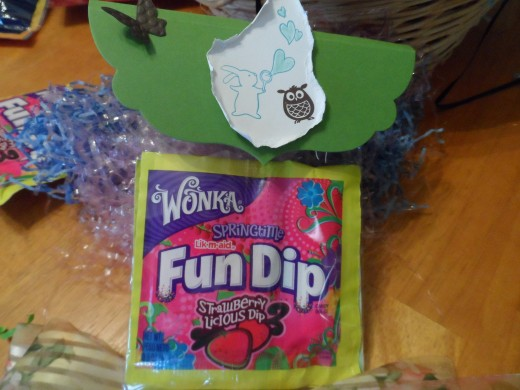Stampin Up Rubberstaming label for Fun Dip Candy