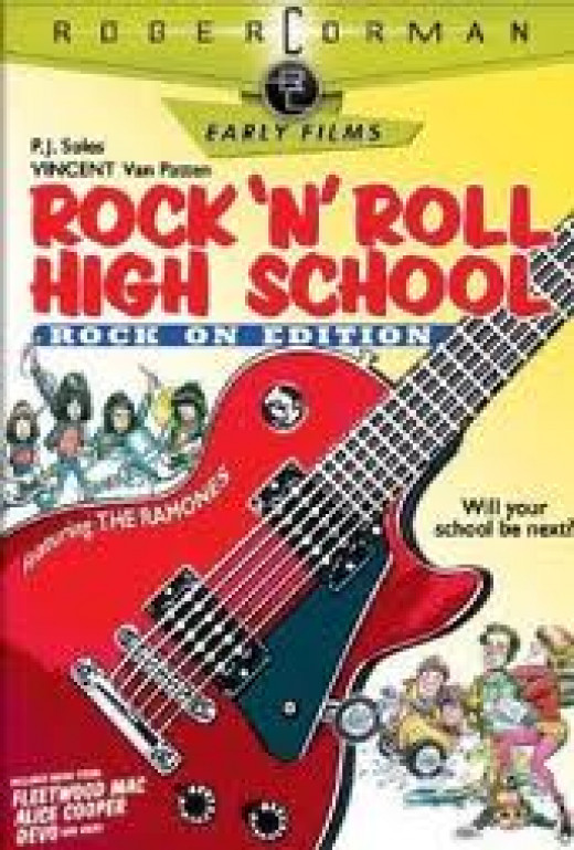 Roger Corman's Rock n' Roll High School, in which Gale Anne Hurd was production assistant.