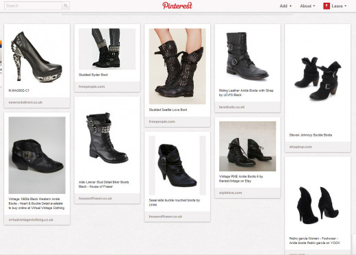 Pinterest allows users to share their collection of 'scrapbooks' with others; perfect for creating a virtual 'wish list'