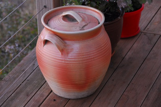 Stunning pottery on a patio