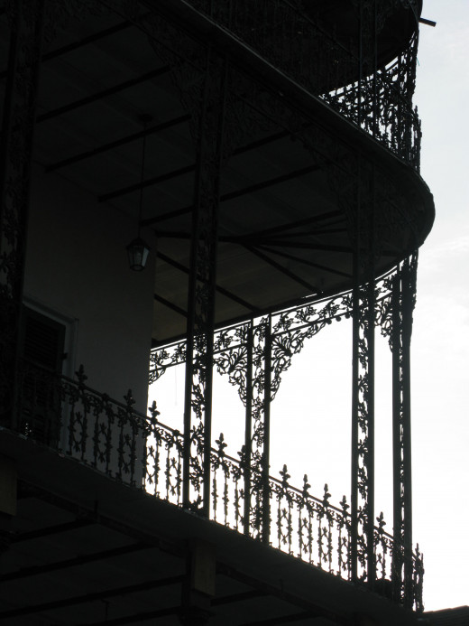 The house is immediately recognizable thanks to the fantastic, distinctive ironwork balconies.