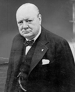 Prime Minister Winston Churchill of the United Kingdom