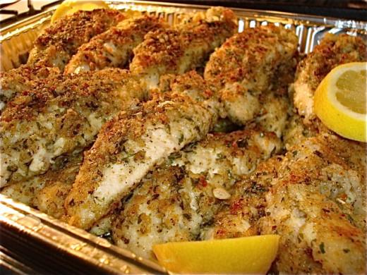 Juicy Lemon Pepper Oregano Baked Chicken Strips Recipe