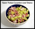 Recipe for how to Make Quick, No-Cook Pickled Cucumbers and Onions